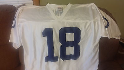 INDIANAPOLIS COLTS PEYTON MANNING  FOOTBALL JERSEY SIZE XL  ADULT