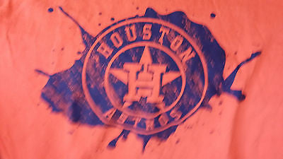 HOUSTON ASTROS PAINT SPLATTER T SHIRT SIZE XL  ADULT