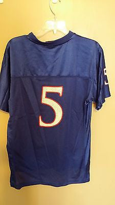 KANSAS JAYHAWKS ADIDAS  FOOTBALL JERSEY SIZE XL YOUTH
