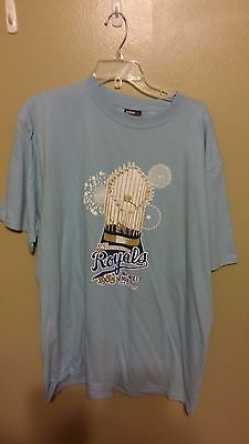 KANSAS CITY ROYALS WORLD CHAMPIONS 1985 BASEBALL T SHIRT SIZE XL  ADULT