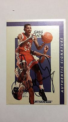 1991 COURTSIDE UNLV RUNNIN REBELS GREG ANTHONY AUTOGRAPH NEVADA LAS VEGAS