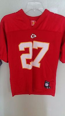 KANSAS CITY CHIEFS LARRY JOHNSON FOOTBALL JERSEY SIZE L 14-16  YOUTH