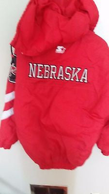 NEBRASKA HUSKERS STARTER WINTER COAT JACKET SIZE MED  ADULT LARGE N