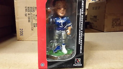 Detroit Lions Joey Harrington Game Worn Forever Collectibles Bobble Head