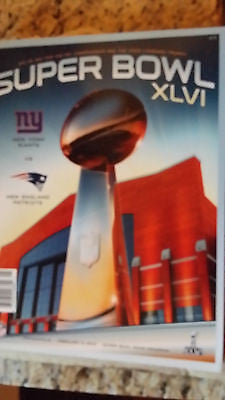 SUPER BOWL 46 OFFICIAL PROGRAM NEW YORK GIANTS NEW ENGLAND PATRIOTS