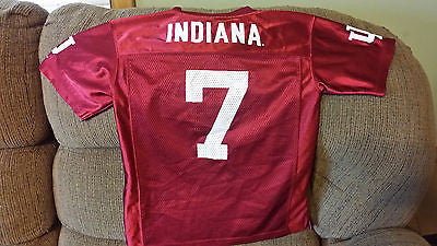 INDIANA HOOSIERS FOOTBALL JERSEY SIZE  8/10  YOUTH
