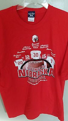 NEBRASKA HUSKERS FOOTBALL LEGENDS T SHIRT SIZE XL ADULT