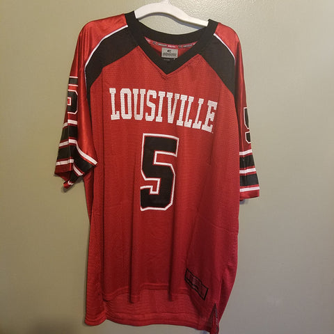 1024ae7c9 LOUISVILLE CARDINALS COLOSSEUM FOOTBALL JERSEY SIZE XL ADULT