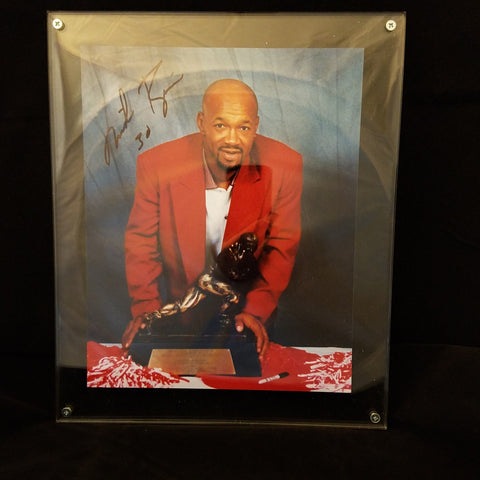 NEBRASKA HUSKERS MIKE ROZIER AUTOGRAPHED 8X10 PHOTO WITH THICK LUCITE HOLDER