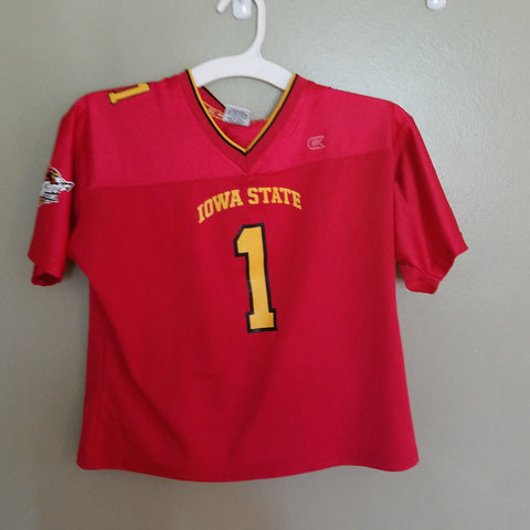 445a82646 IOWA STATE CYCLONES COLOSSEUN FOOTBALL JERSEY SIZE MED YOUTH