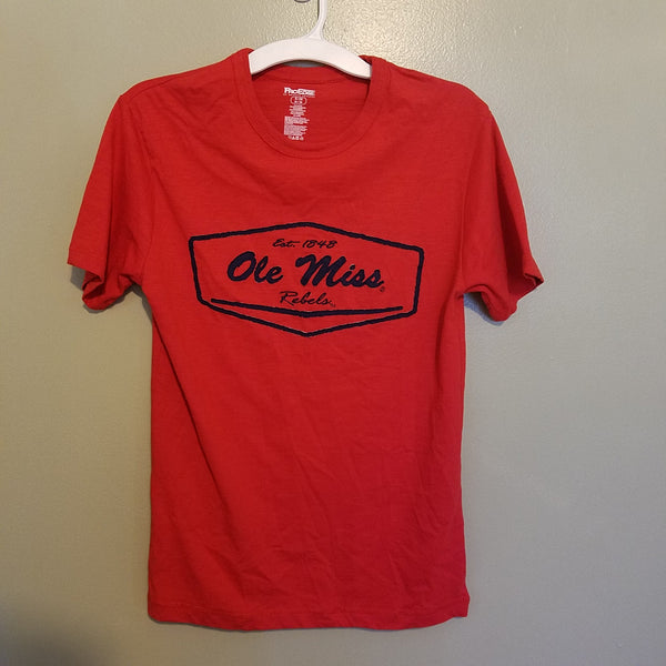 OLE MISS MISSISSIPPI REBELS T SHIRT SIZE SMALL ADULT
