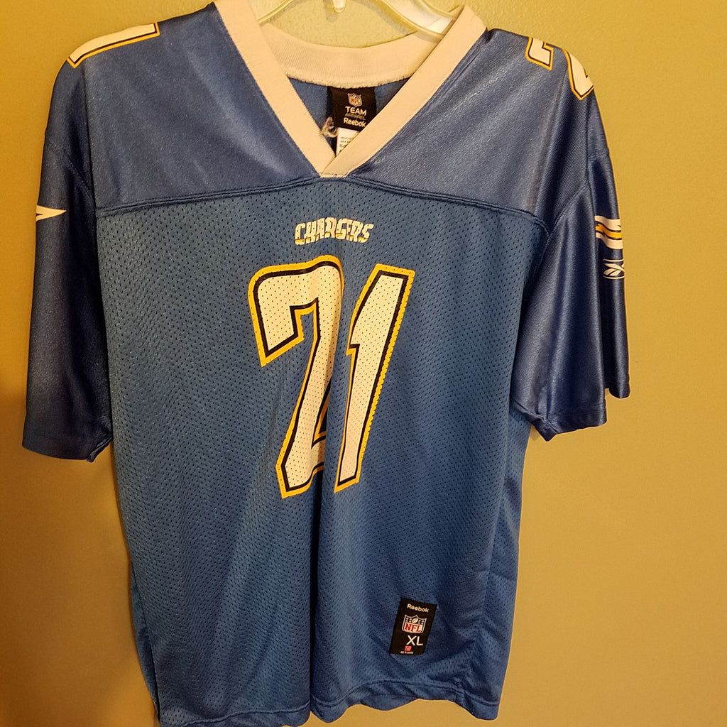 SAN DIEGO CHARGERS LADAINIAN TOMLINSON FOOTBALL JERSEY SIZE XL YOUTH
