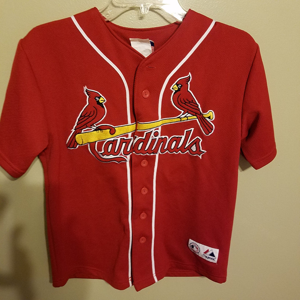 st louis cardinals albert puljols baseball jersey size med 10/12 YOUTH