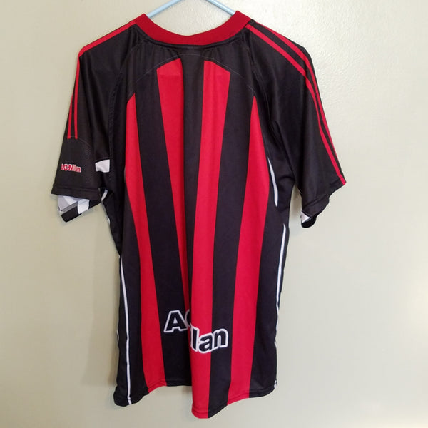 AC MILAN SOCCER JERSEY SIZE LARGE/XL ADULT