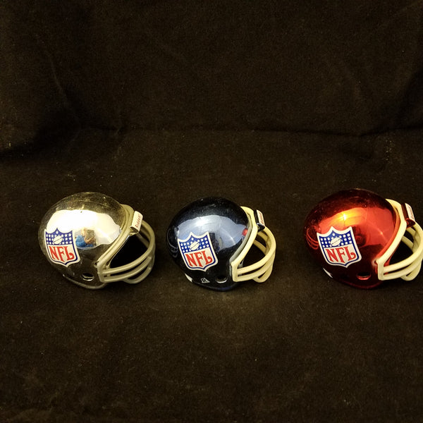 3 CHROME SHIELD SET POCKET PRO HELMETS RIDDELL