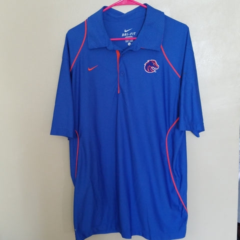 6a807f3a BOISE STATE BRONCOS NIKE DRI FIT PERFORMANCE POLO SHIRT SIZE LARGE ADULT
