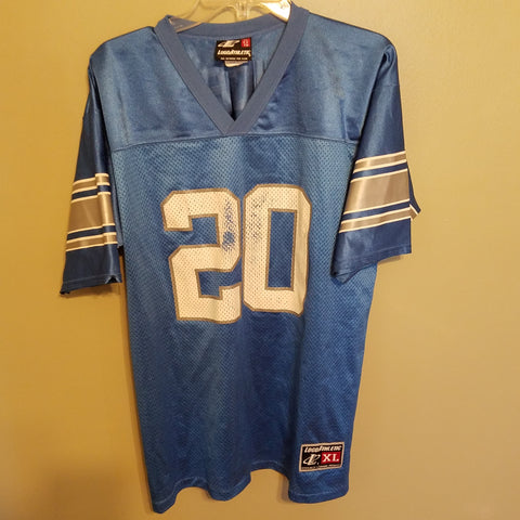 8aa1a525b DETROIT LIONS BARRY SANDERS FOOTBALL JERSEY SIZE XL ADULT LOGO ATHLETIC