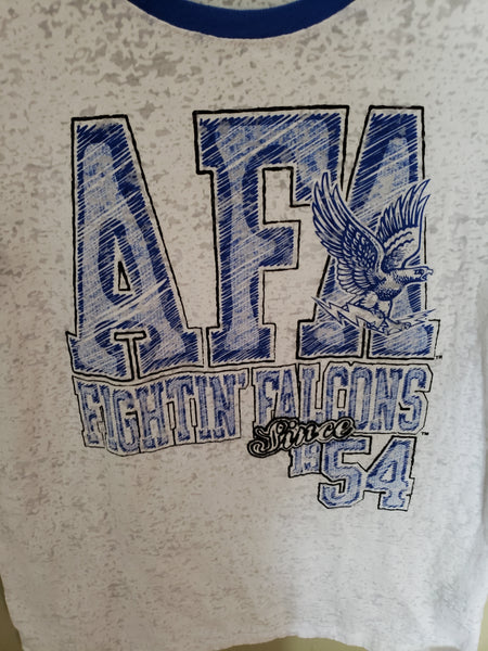 AIR FORCE FIGHTIN FALCONS WOMANS SHIRT SIZE LARGE ADULT