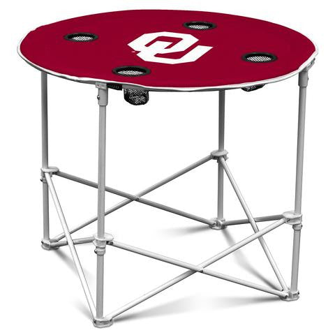 OKLAHOMA SOONERS NCAA 30 INCH ROUND TAILGATE TABLE