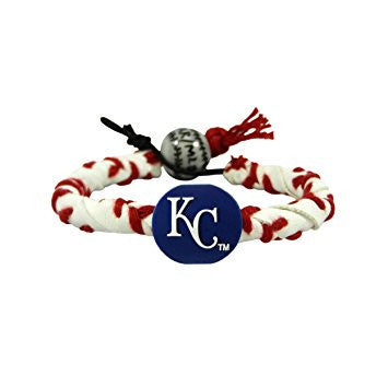 MLB MAJOR LEAGUE BASEBALL GAMEWEAR FROZEN ROPE LEATHER BRACELET