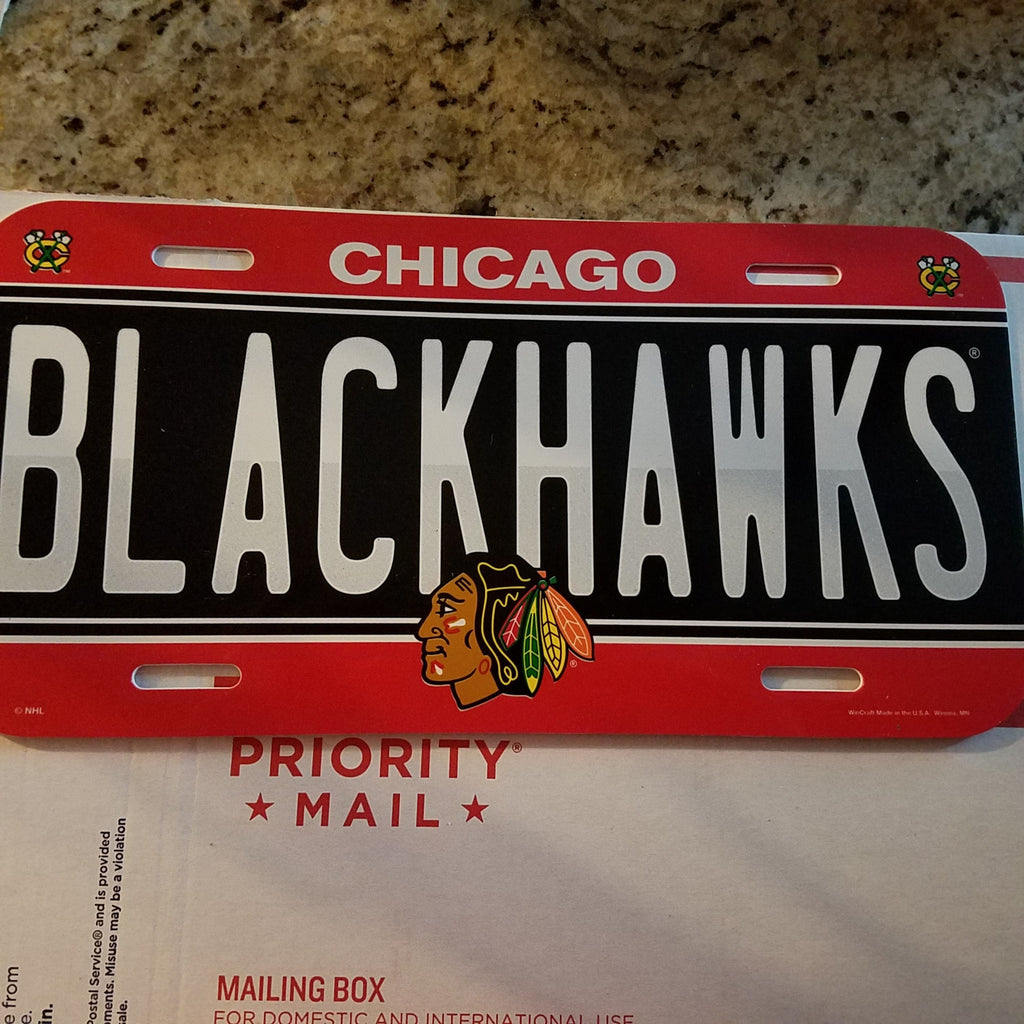 CHICAGO BLACKHAWKS CAR AUTO LICENSE PLATE STYLE