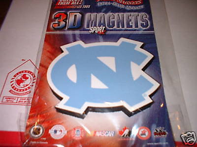 NORTH CAROLINA TAR HEELS JUMBO 3D SPORT MAGNET NEW