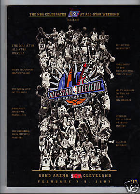 1997 NBA ALL-STAR GAME PROGRAM 50 GREATEST PLAYERS