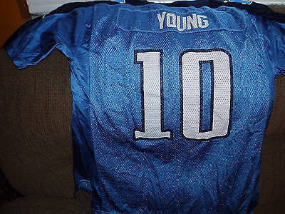 TENNESSEE TITANS VINCE YOUNG  FOOTBALL JERSEY  SIZE XL REEBOK YOUTH