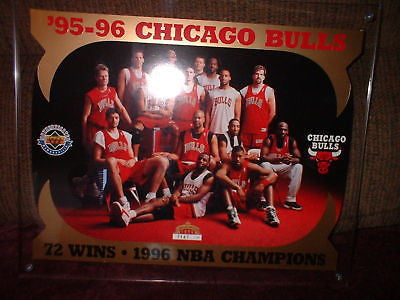 "Chicago Bulls 8""x10"" UD BlowUp Card w Acrylic display"