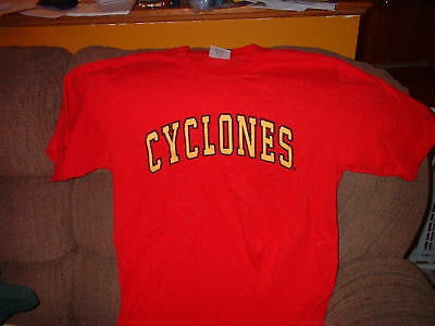 IOWA STATE CYCLONES T-SHIRT SIZE LARGE ADULT COLOSSEU