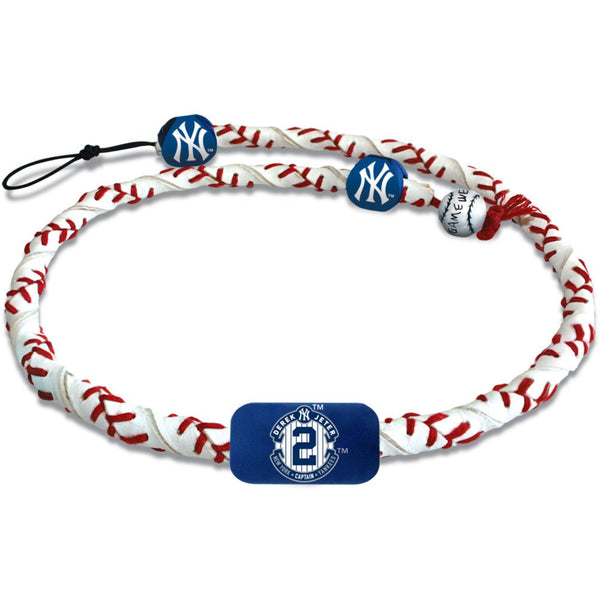 MLB MAJOR LEAGUE BASEBALL  GAMEWEAR FROZEN ROPE LEATHER NECKLACE