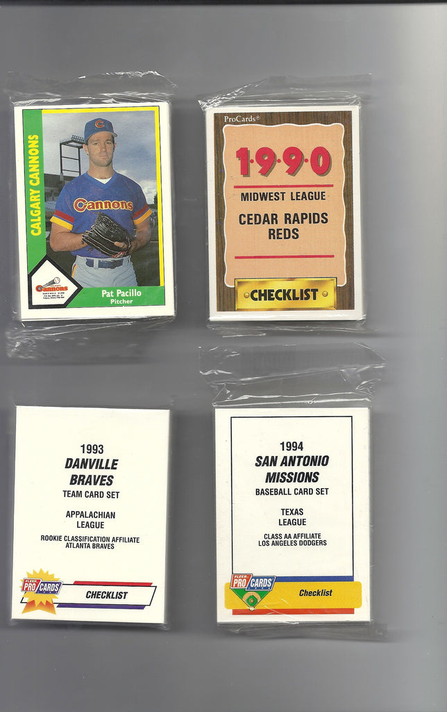 1990 CEDAR RAPID REDS MINOR LEAGUE BASEBALL CARD SET