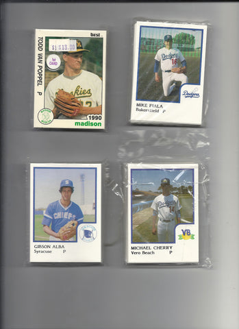 1986 BAKERSFIELD DODGERS MINOR LEAGUE BASEBALL CARD SET