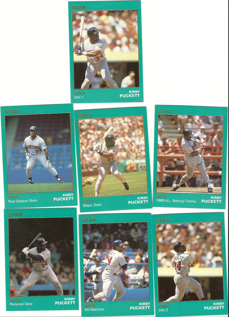 MINNESOTA TWINS KIRBY PUCKET STAR CARD GOLD SET CARDS LOT OF 50