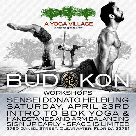 2016 - 04/23 - 1:00PM & 3:30PM - BDK YOGA WORKSHOPS W/DONATO HELBLING @A YOGA VILLAGE, CLEARWATER FL