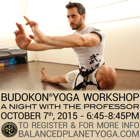 2015 - 10/07 - 6:45pm & 8:45pm - A Night with the Professor @Balanced Planet Yoga, Marlton NJ