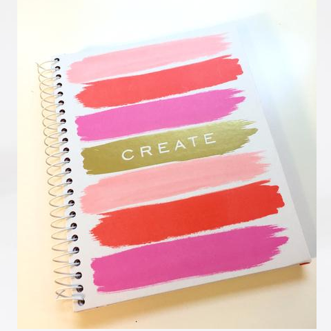 Colorful CREATE spiral notebook