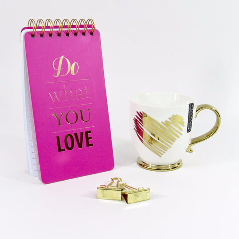 Do What You Love spiral notebook and Coffee Mug Gift Set