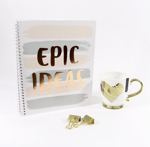Epic Ideas Notebook and Coffee Mug Gift Set