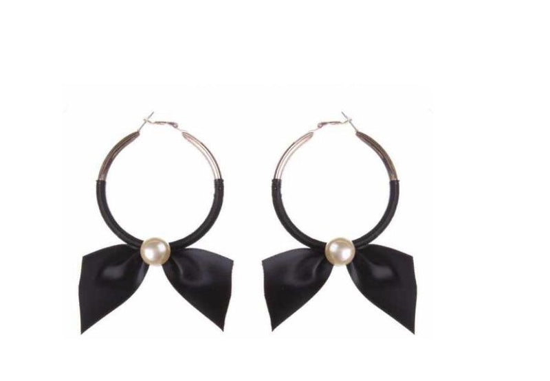 Hoop Bow Earrings Bluebell