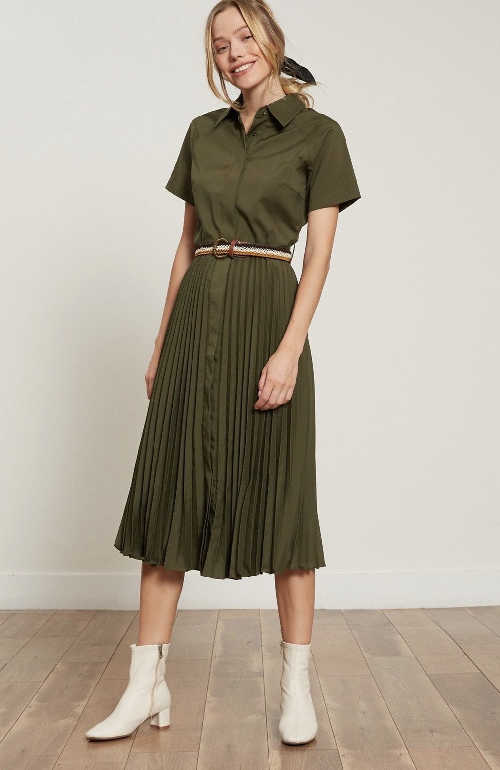 Olivia Pleated Dress Lucy Paris