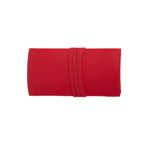 EVA TRAVEL JEWELRY ROLL RED PERSONALIZED
