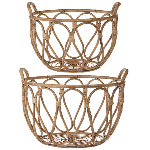METAL BAMBOO BASKET SET