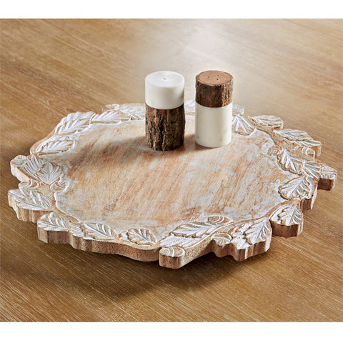 CARVED LAZY SUSAN