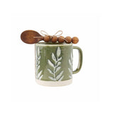 GREEN LEAF MUG SET