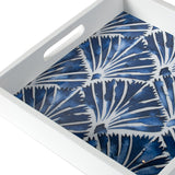 BLUE AND WHITE DECORATIVE TRAY