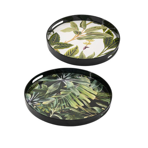 ROUND TROPICAL TRAY