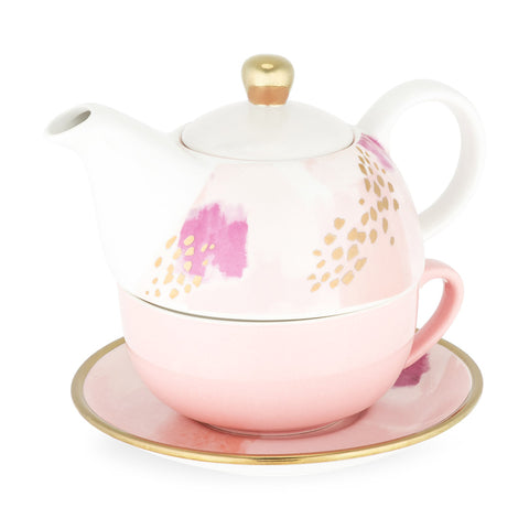 ADDISON PINK TEA SET