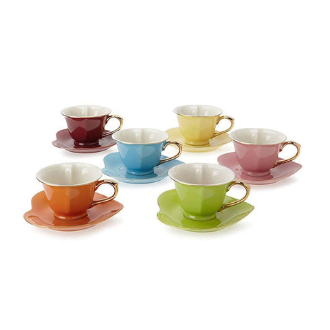 INSIDE OUT HEART CUP AND SAUCER 3 Onz, SET/6