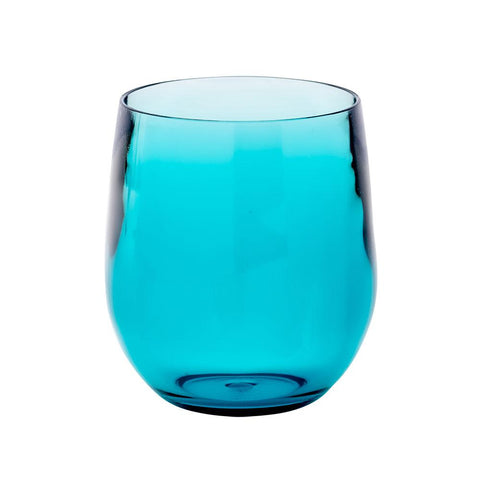 ACRYLIC 12onz. TUMBLER GLASS IN TURQUOISE